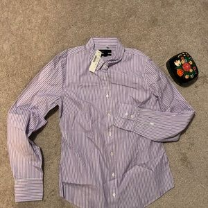 Tops - J.crew perfect shirt in lilac stripe